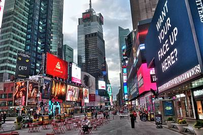 Photograph - Times Square New York City 102 by Timothy Lowry