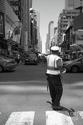Times Square, New York City  -27854-bw Art Print