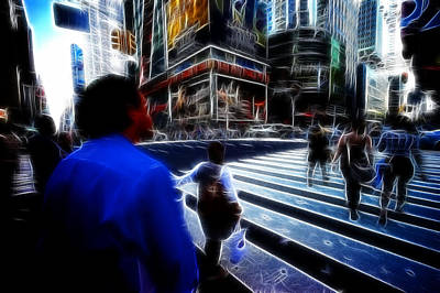 Photograph - Times Square New York City by Lawrence Christopher