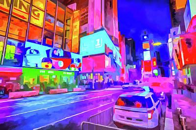 Photograph - Times Square New York Pop Art by David Pyatt