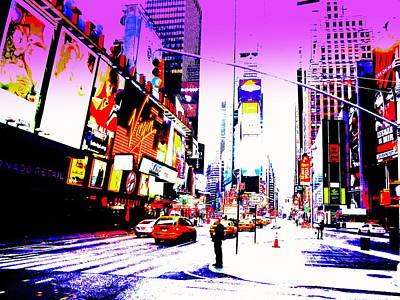 Times Square Ny  Art Print by Funkpix Photo Hunter