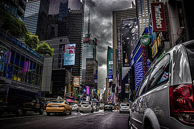 American Cars Photograph - Times Square Nyc by Martin Newman