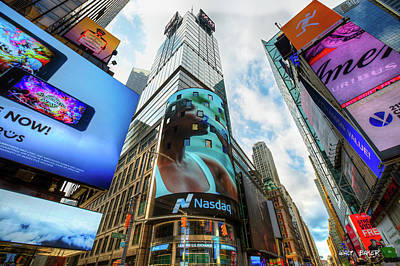 Photograph - Times Square Of Course by Walt Baker