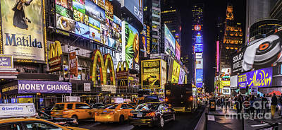 Photograph - Times Square Pano by Nick Zelinsky