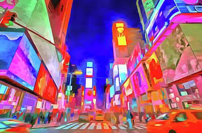 Photograph - Times Square Pop Art by David Pyatt