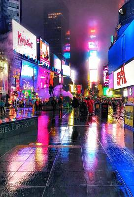 Photograph - Times Square Streeet Scenes  by Paul Wilford