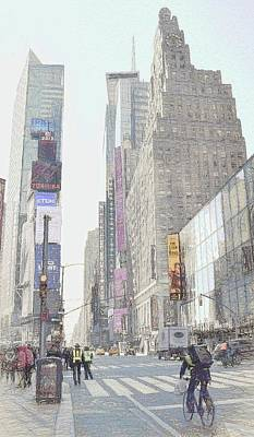 Photograph - Times Square Street Scene by Dyle Warren