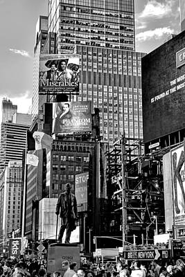 Photograph - Times Square Summer 2016 V 2 by Robert Meyers-Lussier