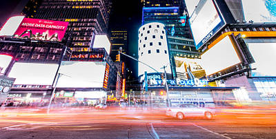 Open Impressionism California Desert - Times Square Supercharged by Roy Tang