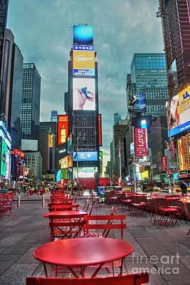 Digital Art - Times Square Tables by Timothy Lowry