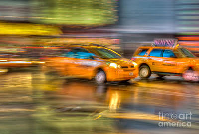Photograph - Times Square Taxi II by Clarence Holmes