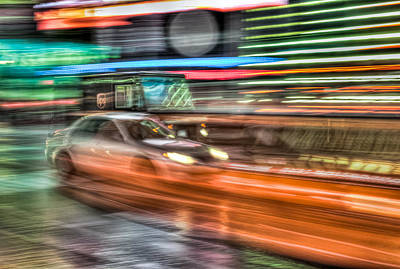 Times Square Photograph - Times Square Traffic by Clarence Holmes