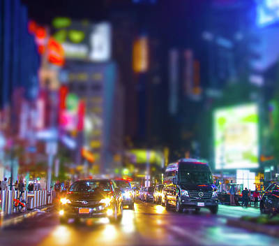 Photograph - Times Square Traffic by Mark Andrew Thomas