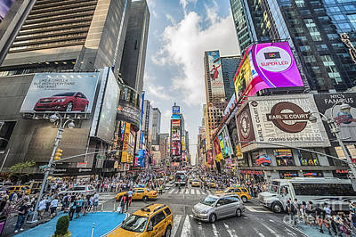 Photograph - Times Square Traffic by Ray Warren