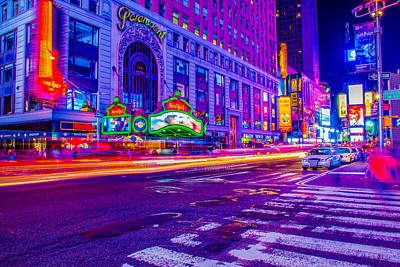 Photograph - Times Square Ultra Vibrant by Mark Robert Rogers
