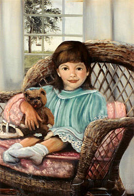 Portaits Painting - Times With Teddy by Sally Seago