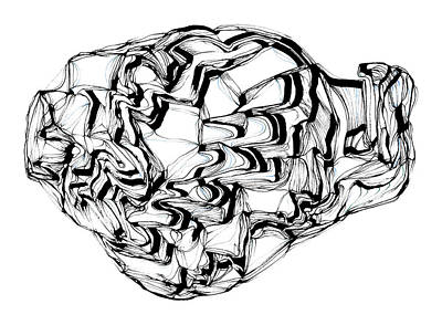 Drawing - Timescape 7 by Daniel Schubarth