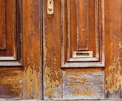 Photograph - Timeworn Door Of Bordentown by Sally Simon