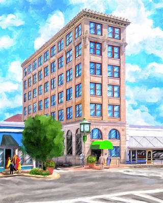Art Print featuring the mixed media Timmerman Building - Andalusia - First National Bank by Mark Tisdale