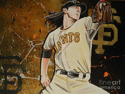 Tim Lincecum Painting - Timmy by Maggie Marquis