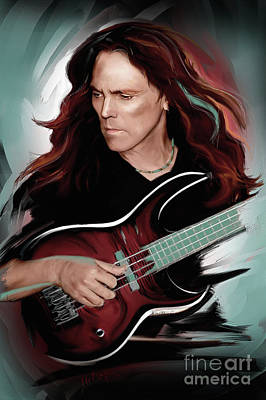 Fish Mixed Media - Timothy B. Schmit by Melanie D