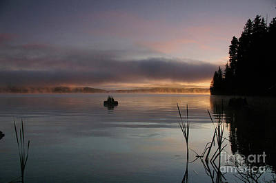 Photograph - Timothy Lake Sunrise Fire On Water by Rick Bures