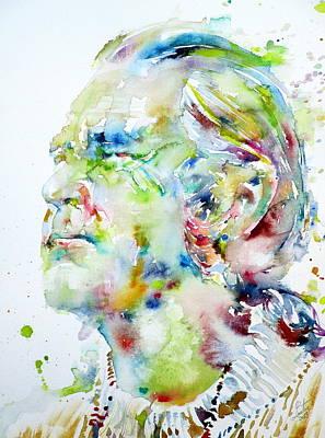 Timothy Leary - Watercolor Portrait.1 Original