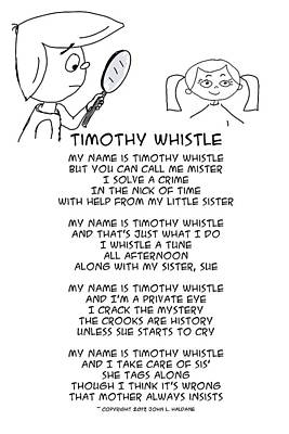 Drawing - Timothy Whistle by John Haldane