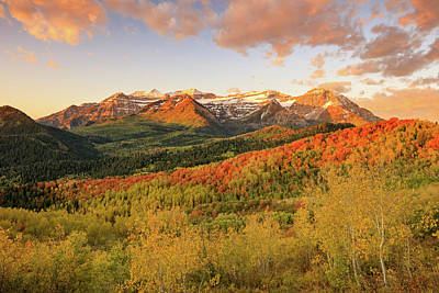 Photograph - Timp Autumn Glow by Johnny Adolphson
