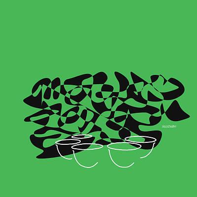 Digital Art - Timpani In Green by David Bridburg
