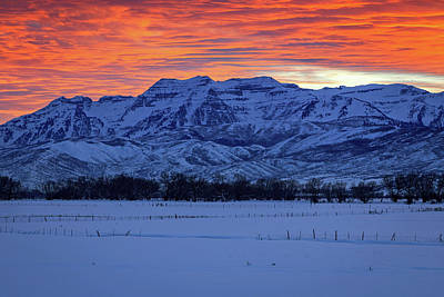 Art Print featuring the photograph Timpanogos Burner by Johnny Adolphson