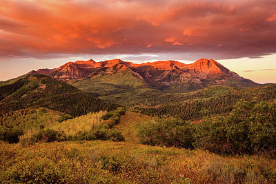Photograph - Timpanogos Glow by Johnny Adolphson