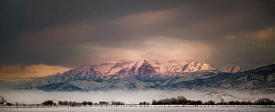 Photograph - Timpanogos Rising by TL Mair