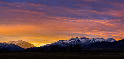 Photograph - Rocky Mountain Sunset by TL Mair