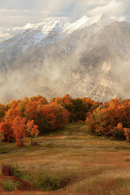 Photograph - Timpanogos Veiled by Dustin LeFevre