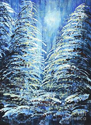 Tim's Winter Forest Art Print