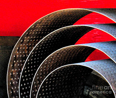 Round Photograph - Tin Abstract by Gary Everson