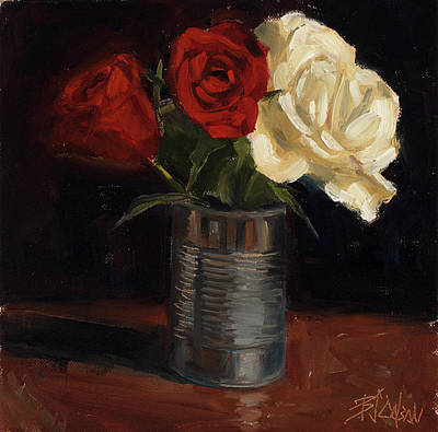 Art Print featuring the painting Tin Can Love by Billie Colson