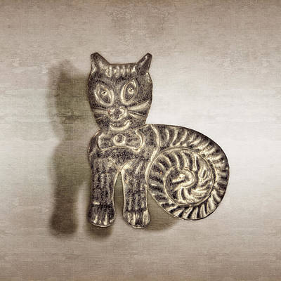 Tin Cat Print by YoPedro