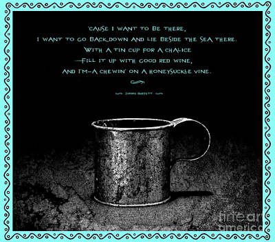 Photograph - Tin Cup Chalice Lyrics Caribbean Blue by John Stephens