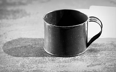 Photograph - Tin Cup by Joseph Skompski
