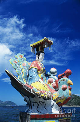 Tin Hua Temple Closeup Of Colorful Statue Art Print by Gloria and Richard Maschmeyer - Printscapes