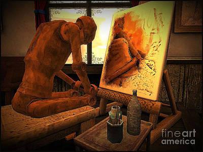 Secondlife Wall Art - Digital Art - Tin Man by Evanescence Cuntiva