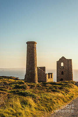 Cornish Wall Art - Photograph - Tin Mine Cornwall by Amanda Elwell