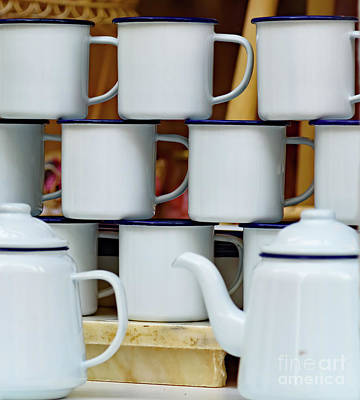 Photograph - Tin Mugs And Tea Pot by Colin Rayner