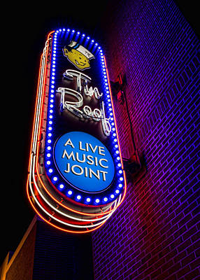 Nashville Sign Photograph - Tin Roof Beale Street by Stephen Stookey