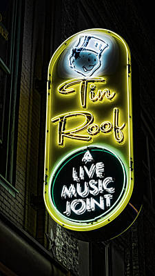 Grand Ole Opry Photograph - Tin Roof - Gritty by Stephen Stookey