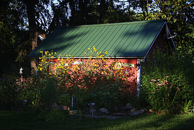 Red Photograph - Tin Roofed Shed  by Richard Gregurich
