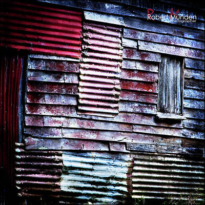 Photograph - Tin Shed by Robert Munden