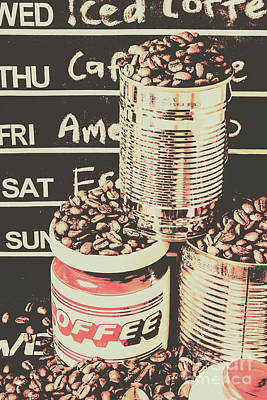 Tin Signs And Coffee Shops Art Print